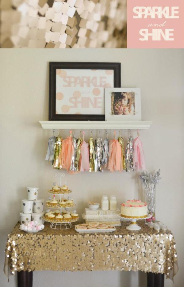 Kara s Party Ideas Sparkle Shine Glitter Glam Glitzy Girl