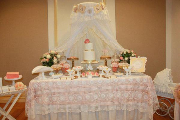 vintage peach and gold baby shower via karau0027s party ideas vintage