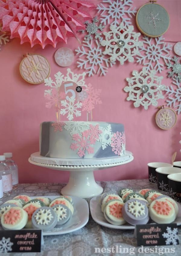 Kara S Party Ideas Snowflake Winter Girl 5th Birthday