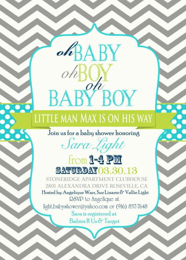 Little man baby shower invitation templates 5766187 - hitori49.info