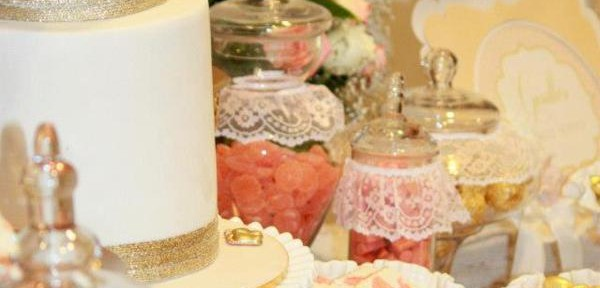 Vintage Peach and Gold baby shower via Kara's Party Ideas KarasPartyIdeas.com #vintage #peach #gold #party #idea #baby #shower (31)