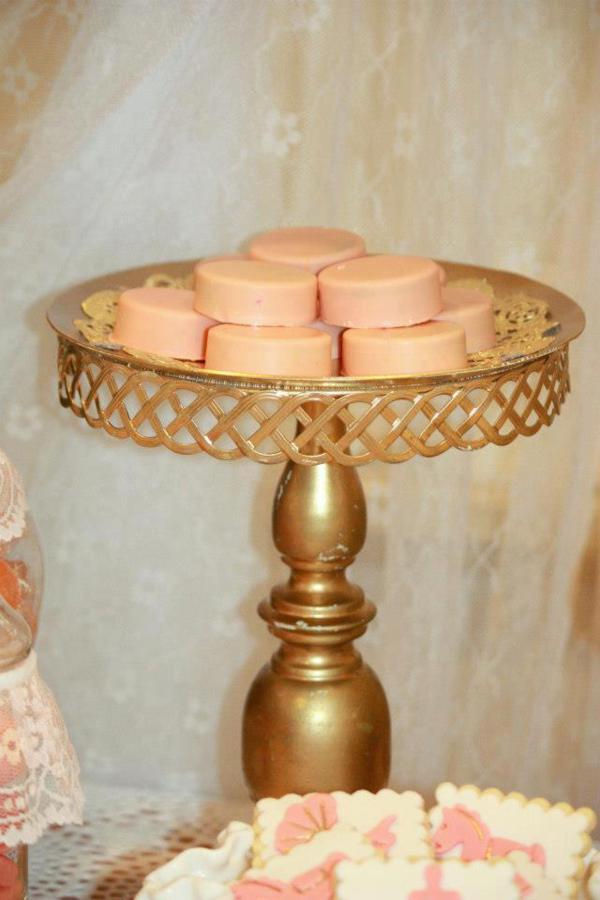 Kara S Party Ideas Vintage Peach Gold Baby Shower Planning