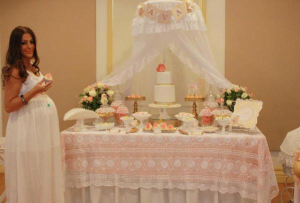 Vintage Peach And Gold Baby Shower Via Kara S Party Ideas Karaspartyideas