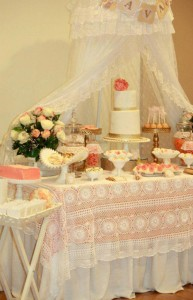 Vintage Peach and Gold baby shower via Kara's Party Ideas KarasPartyIdeas.com #vintage #peach #gold #party #idea #baby #shower (28)