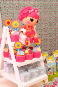 LalaLoopsy themed birthday party via Kara's Party Ideas KarasPartyIdeas.com #lalaloopsy #nanjaloopsy #birthday #party #ideas #cake #supplies #idea #favors #table #dessert (1) (45)