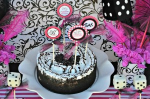 Pink BUNCO themed birthday party via Kara's Party Ideas KarasPartyIdeas.com #pink #bunco #themed #birthday #party #ideas #idea (26)