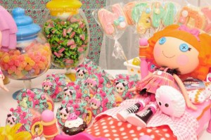 LalaLoopsy themed birthday party via Kara's Party Ideas KarasPartyIdeas.com #lalaloopsy #nanjaloopsy #birthday #party #ideas #cake #supplies #idea #favors #table #dessert (1) (43)