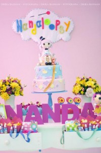 LalaLoopsy themed birthday party via Kara's Party Ideas KarasPartyIdeas.com #lalaloopsy #nanjaloopsy #birthday #party #ideas #cake #supplies #idea #favors #table #dessert (1) (41)