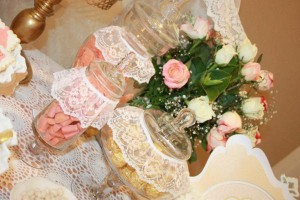 Vintage Peach and Gold baby shower via Kara's Party Ideas KarasPartyIdeas.com #vintage #peach #gold #party #idea #baby #shower (25)