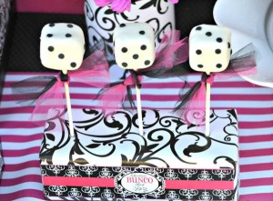 Pink BUNCO themed birthday party via Kara's Party Ideas KarasPartyIdeas.com #pink #bunco #themed #birthday #party #ideas #idea (40)