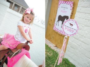 Pink pony themed birthday party via Kara's Party Ideas KarasPartyIdeas.com #pony #horse #birthday #party (23)