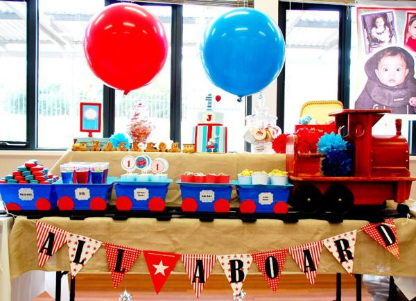 Party Ideas Train Boy Themed Birthday Planning Decorations