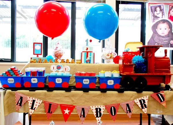 Kara S Party Ideas Train Boy Themed Birthday Party