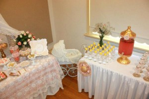 Vintage Peach and Gold baby shower via Kara's Party Ideas KarasPartyIdeas.com #vintage #peach #gold #party #idea #baby #shower (21)