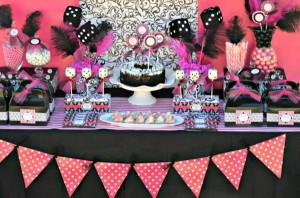 Pink BUNCO themed birthday party via Kara's Party Ideas KarasPartyIdeas.com #pink #bunco #themed #birthday #party #ideas #idea (24)