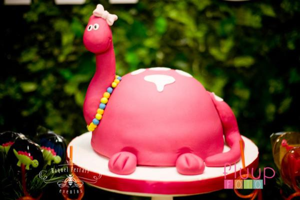 Karas Party Ideas Pink Dinosaur 5th Birthday Party
