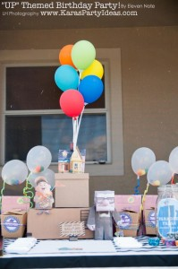 Disney's UP themed birthday party via Kara's Party Ideas | KarasPartyIdeas.com #up #themed #birthday #party #planning #ideas #cake #disney #decor #supplies #shop #idea (47)