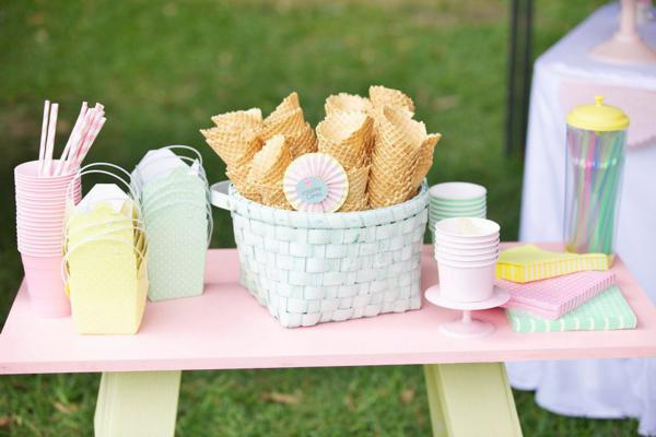 Ice Cream Shoppe Party via Kara's Party Ideas | KarasPartyIdeas.com #ice #cream #shoppe #party #ideas #summer #cake (23)