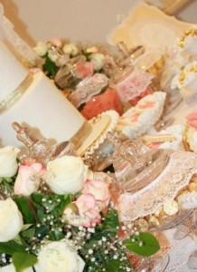 Vintage Peach and Gold baby shower via Kara's Party Ideas KarasPartyIdeas.com #vintage #peach #gold #party #idea #baby #shower (15)