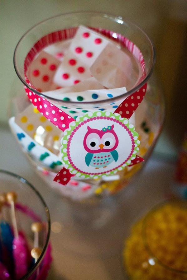Karas Party Ideas Owl Whoos One themed birthday party supplies