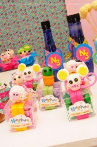 LalaLoopsy themed birthday party via Kara's Party Ideas KarasPartyIdeas.com #lalaloopsy #nanjaloopsy #birthday #party #ideas #cake #supplies #idea #favors #table #dessert (1) (28)