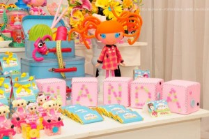 LalaLoopsy themed birthday party via Kara's Party Ideas KarasPartyIdeas.com #lalaloopsy #nanjaloopsy #birthday #party #ideas #cake #supplies #idea #favors #table #dessert (1) (27)