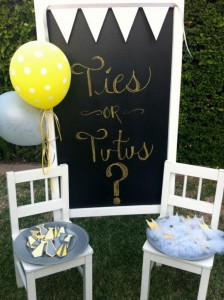 Tutus or Ties? Gender Reveal Party! Via Kara's Party Ideas KarasPartyIdeas.com #baby #shower #gender #reveal #ideas #party #tutus #ties #boy #girl #idea (18)