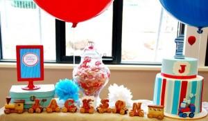 Train themed birthday party via Kara's Party Ideas KarasPartyIdeas.com (3)