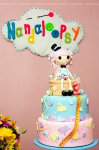 LalaLoopsy themed birthday party via Kara's Party Ideas KarasPartyIdeas.com #lalaloopsy #nanjaloopsy #birthday #party #ideas #cake #supplies #idea #favors #table #dessert (1) (25)