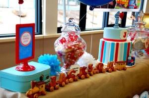 Train themed birthday party via Kara's Party Ideas KarasPartyIdeas.com (2)