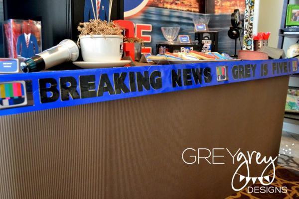 Kara S Party Ideas Live At Five Anchorman Boy News Themed