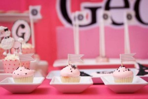 Poodle in Paris themed birthday party via Kara's Party Ideas | KarasPartyIdeas.com #poodle #paris #birthday #party #ideas #cake #cupcakes #favors #decorations #supplies #idea (26)