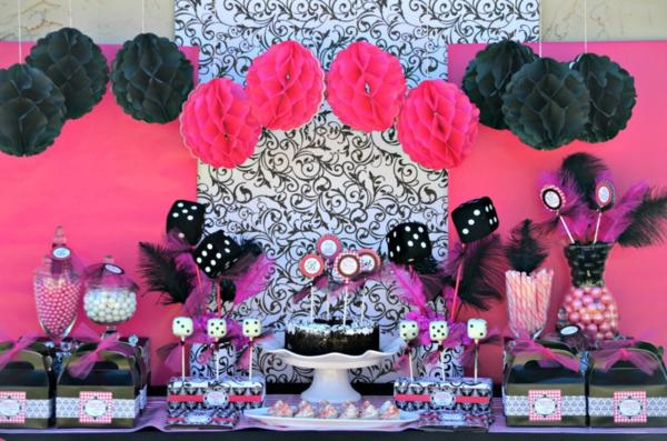 Pink BUNCO Themed Birthday Party Via Karas Ideas KarasPartyIdeas Bunco