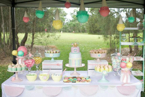 Ice Cream Shoppe Party via Kara's Party Ideas | KarasPartyIdeas.com #ice #cream #shoppe #party #ideas #summer #cake (18)