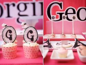 Poodle in Paris themed birthday party via Kara's Party Ideas | KarasPartyIdeas.com #poodle #paris #birthday #party #ideas #cake #cupcakes #favors #decorations #supplies #idea (24)