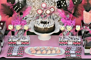Pink BUNCO themed birthday party via Kara's Party Ideas KarasPartyIdeas.com #pink #bunco #themed #birthday #party #ideas #idea (18)