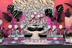 Pink BUNCO themed birthday party via Kara's Party Ideas KarasPartyIdeas.com #pink #bunco #themed #birthday #party #ideas #idea (17)