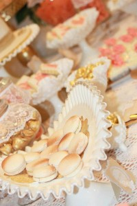 Vintage Peach and Gold baby shower via Kara's Party Ideas KarasPartyIdeas.com #vintage #peach #gold #party #idea #baby #shower (13)