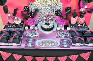 Pink BUNCO themed birthday party via Kara's Party Ideas KarasPartyIdeas.com #pink #bunco #themed #birthday #party #ideas #idea (16)