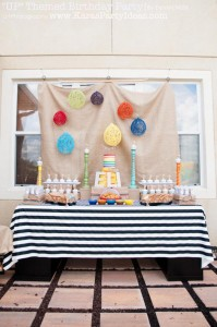 Disney's UP themed birthday party via Kara's Party Ideas | KarasPartyIdeas.com #up #themed #birthday #party #planning #ideas #cake #disney #decor #supplies #shop #idea (43)