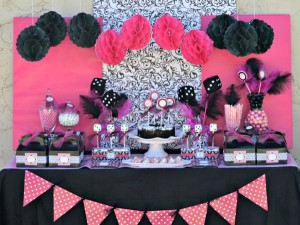 Pink BUNCO themed birthday party via Kara's Party Ideas KarasPartyIdeas.com #pink #bunco #themed #birthday #party #ideas #idea (14)