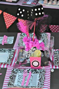 Pink BUNCO themed birthday party via Kara's Party Ideas KarasPartyIdeas.com #pink #bunco #themed #birthday #party #ideas #idea (10)