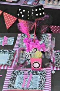 Pink BUNCO themed birthday party via Kara's Party Ideas KarasPartyIdeas.com #pink #bunco #themed #birthday #party #ideas #idea (10)