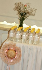 Vintage Peach and Gold baby shower via Kara's Party Ideas KarasPartyIdeas.com #vintage #peach #gold #party #idea #baby #shower (12)