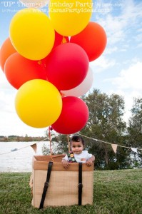 Disney's UP themed birthday party via Kara's Party Ideas | KarasPartyIdeas.com #up #themed #birthday #party #planning #ideas #cake #disney #decor #supplies #shop #idea (42)