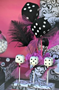 Pink BUNCO themed birthday party via Kara's Party Ideas KarasPartyIdeas.com #pink #bunco #themed #birthday #party #ideas #idea (9)