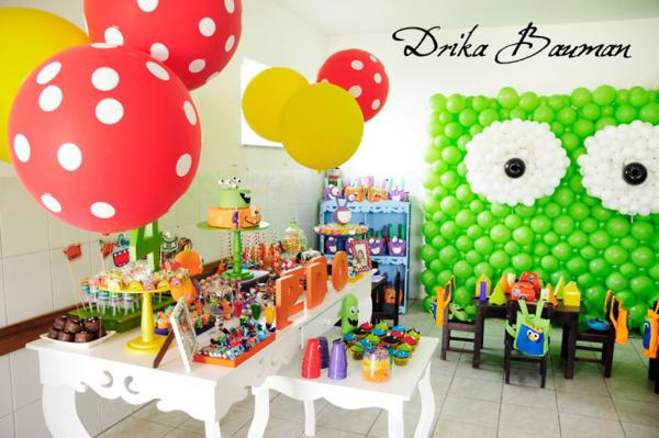 Karas Party Ideas Monster Boy Girl 4th Birthday Party Planning