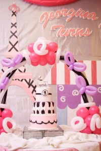 Poodle in Paris themed birthday party via Kara's Party Ideas | KarasPartyIdeas.com #poodle #paris #birthday #party #ideas #cake #cupcakes #favors #decorations #supplies #idea (12)