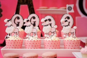 Poodle in Paris themed birthday party via Kara's Party Ideas | KarasPartyIdeas.com #poodle #paris #birthday #party #ideas #cake #cupcakes #favors #decorations #supplies #idea (7)