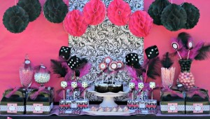 Pink BUNCO themed birthday party via Kara's Party Ideas KarasPartyIdeas.com #pink #bunco #themed #birthday #party #ideas #idea (4)
